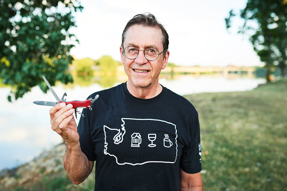 """Stuart Beals    What is a favorite adventure in Kansas you have had?    """" It's hard to single out a favorite Kansas outdoor adventure, so I'll cheat and mention trail runs near Lawrence, paddling Clinton Lake and the Kaw, road races and triathlons, and rock climbing near Fall River."""