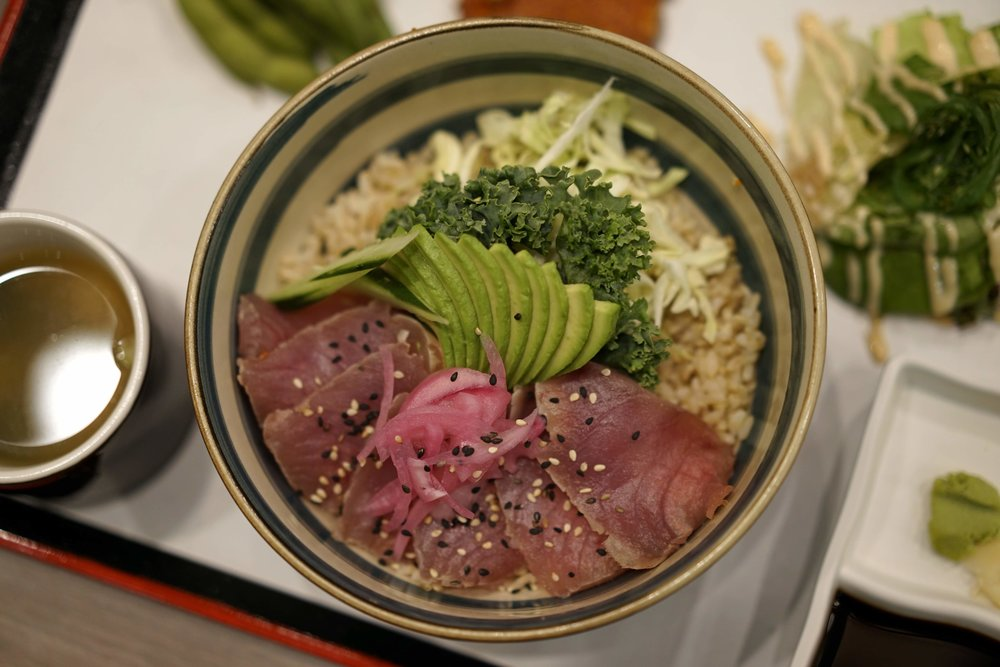 Seared Albacore Sashimi Bowl