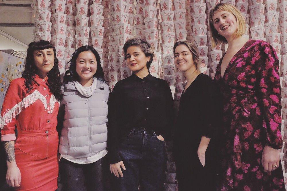 From left to right: Danie Drankwalter, Jenny Dorsey, NaZ Riahi, Jess Graham and Madison Trapkin. Photographer:  Nina Gallant