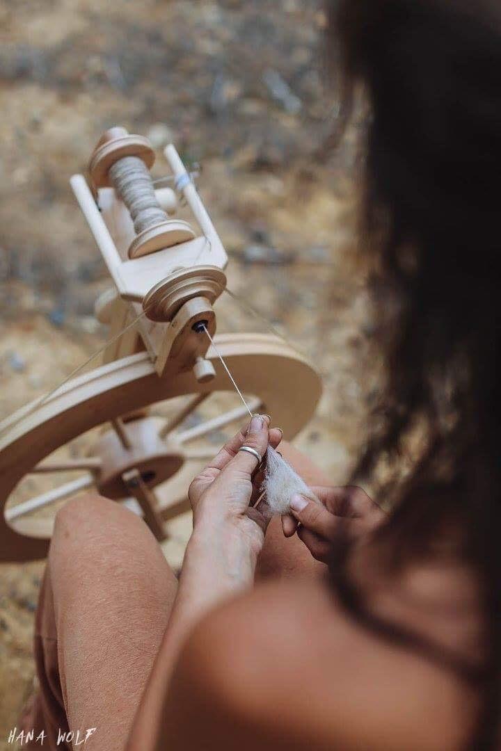 Roots of Fiber Arts~Spinning Wheel