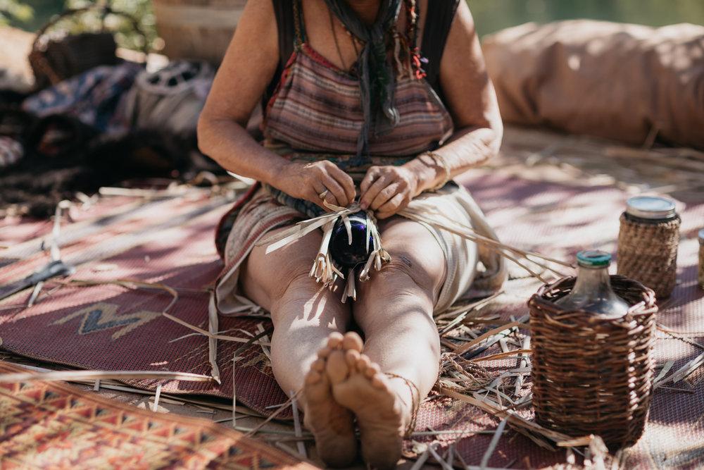 Cattail Weaving