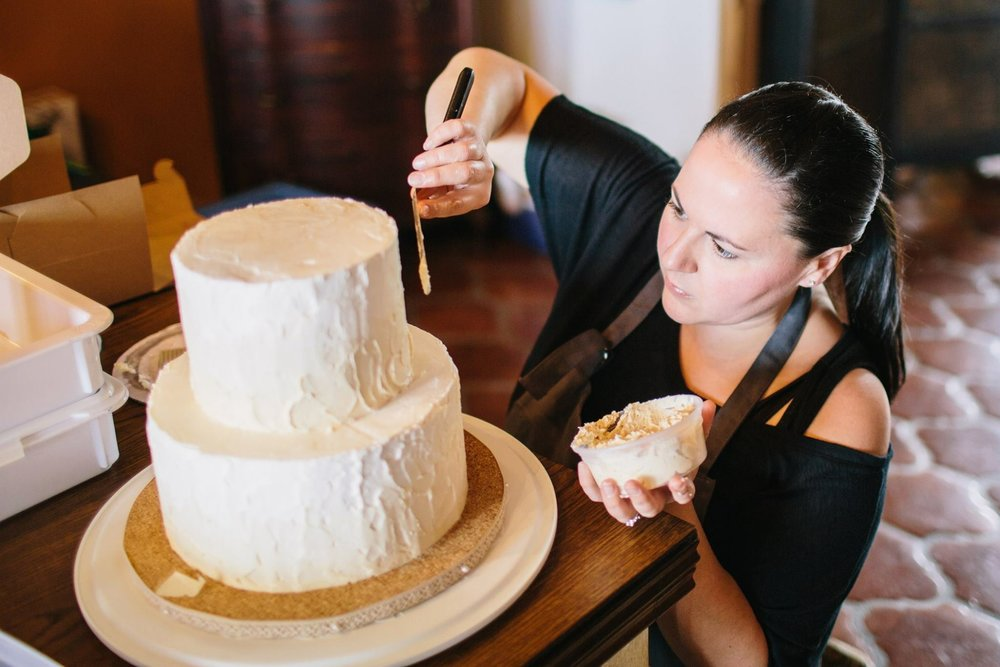 Annie Farrell | Owner and Cake Artist { photo by Jay C Winte r}  Annie is a certified Food Safety Manager and has been cooking and baking professionally for over 12 years.