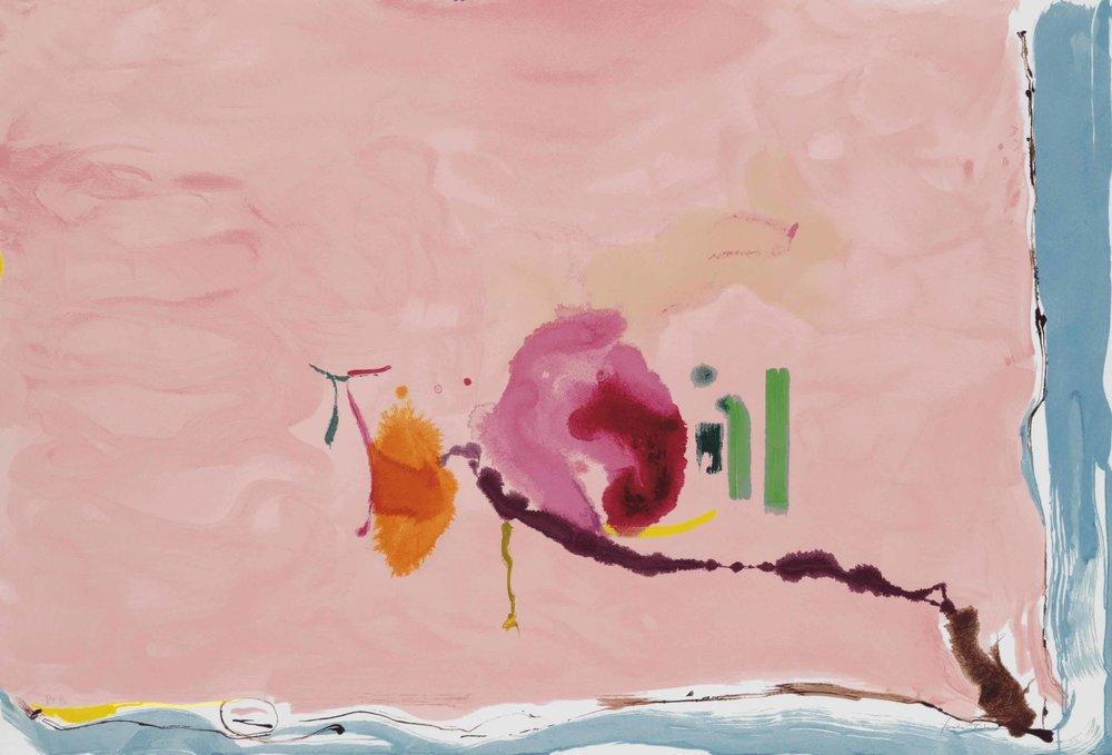 Helen Frankenthaler, Flirt  Helen Frankenthaler Foundation, 1995
