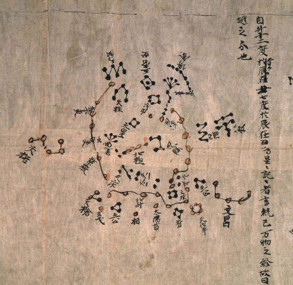 Chinese Star Chart , c. 700 AD British Library