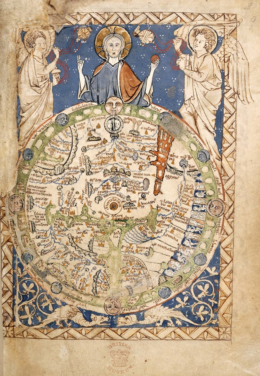 The Map Psalter , c. 1260s British Library