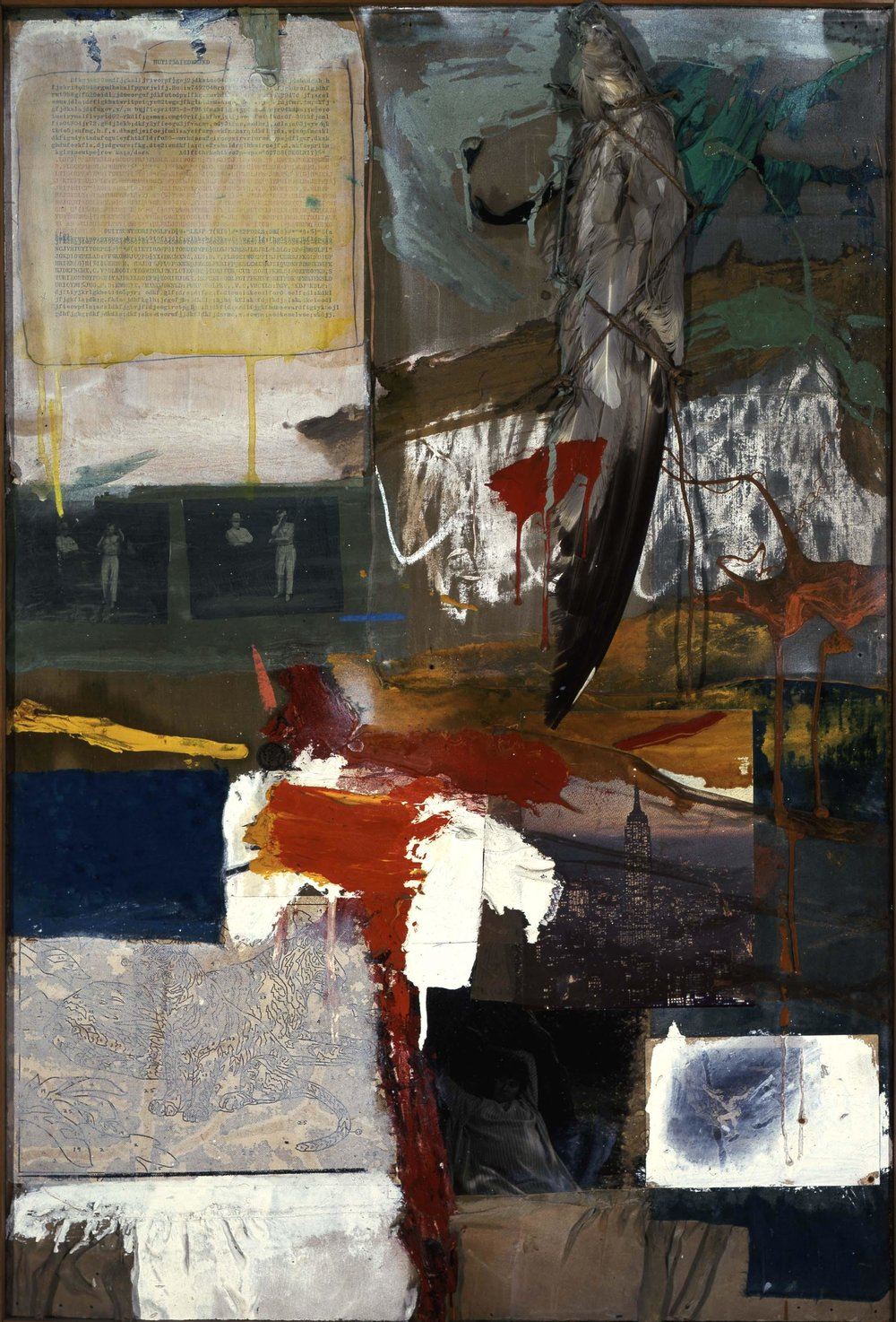 Painting with Grey Wing , Robert Rauschenberg Museum of Contemporary Art, Los Angeles, 1959