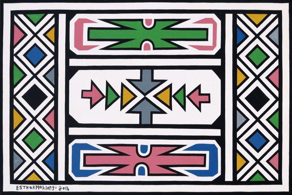 Abstract , Esther Mahlangu 2014
