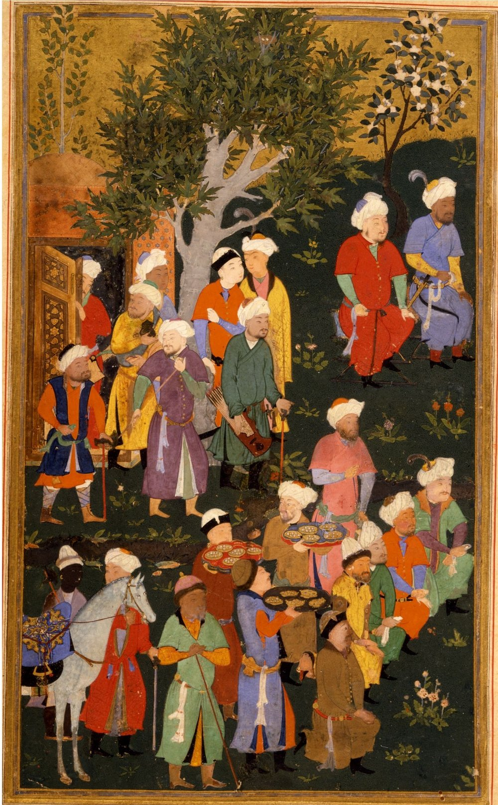 Timur Granting Audience on the Occasion of His Accession , attributed to Behzad John Hopkins University Archives, c. 1467