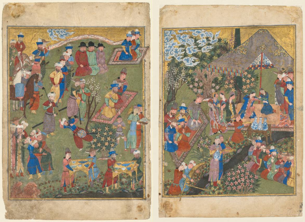 A Princely Banquet In A Garden  Cleveland Museum of Art, c. 1440