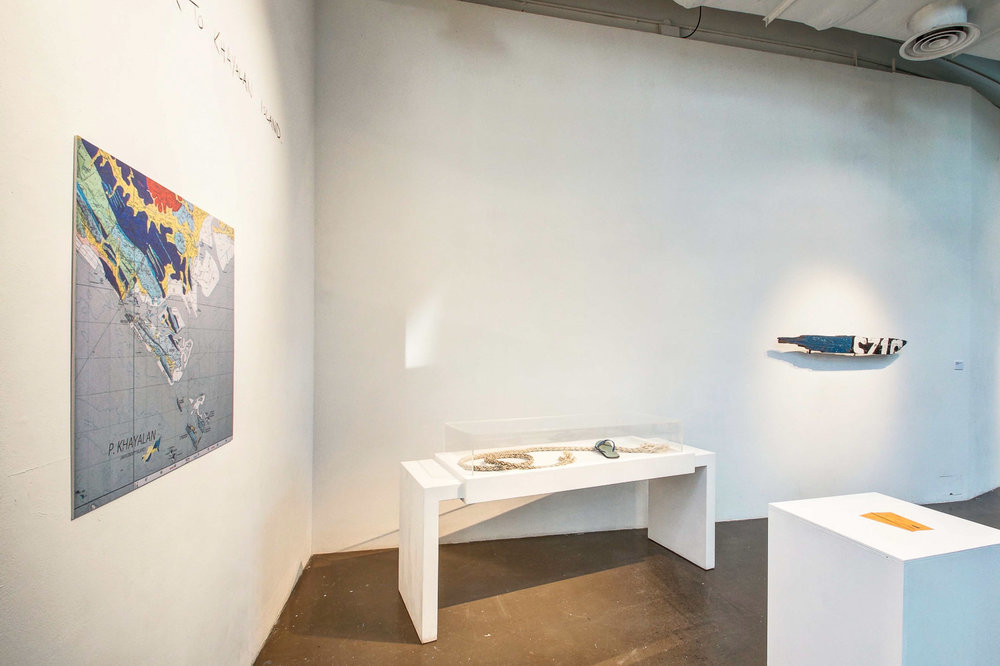 Khayalan Island Artifacts , James Jack 2013, Installation View at the  Institute of Contemporary Arts Singapore   Photograph from the artist