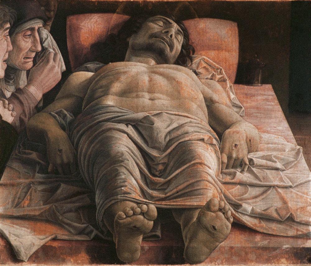 The Lamentation over the Dead Christ,  Andrea Mantegna Pinacoteca di Brera, 1490