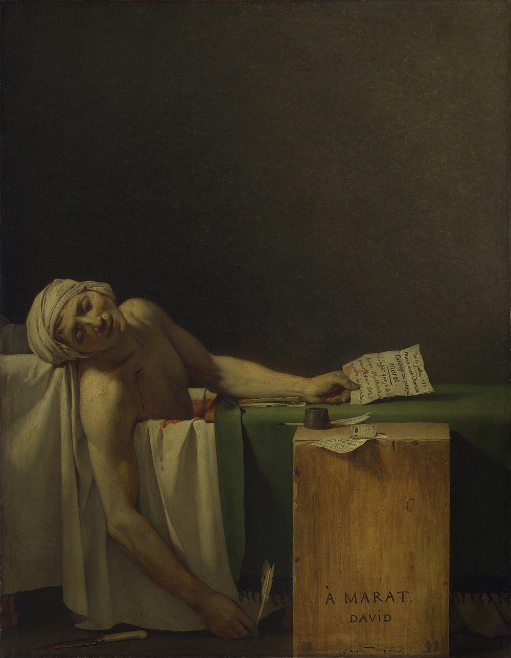 The Death of Marat,  Jacques-Louis David Royal Museums of Fine Arts of Belgium, 1793