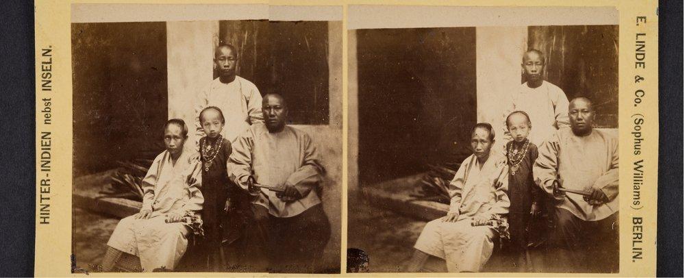 Tan Kim Ching and Family , Fedor Jagor Peranakan Museum, c. 1857–58  Credit: Peranakan Museum, Gift of Mr and Mrs Lee Kip Lee