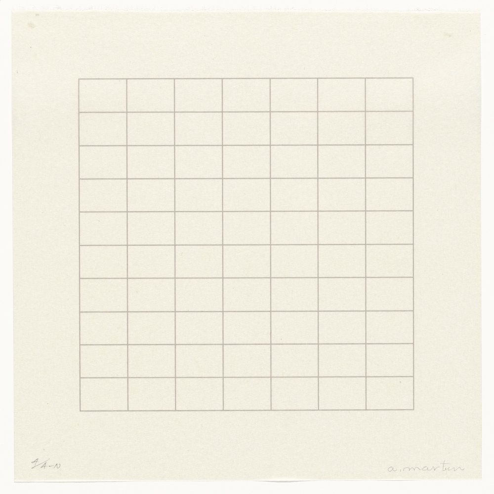 Untitled from On A Clear Day , Agnes Martin The Museum of Modern Art, 1973
