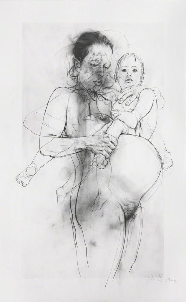 Reproduction drawing II (after the Leonardo cartoon) , Jenny Saville Gagosian, 2009 - 2010