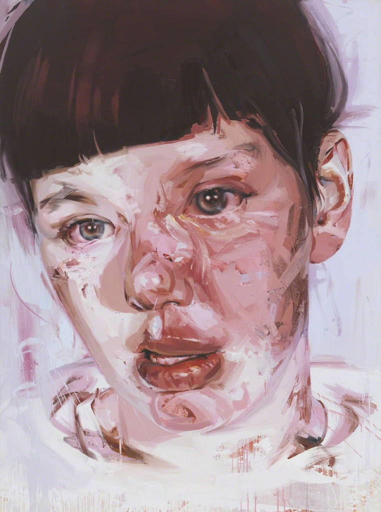 Red Stare Head IV , Jenny Saville Gagosian, 2006 - 2010