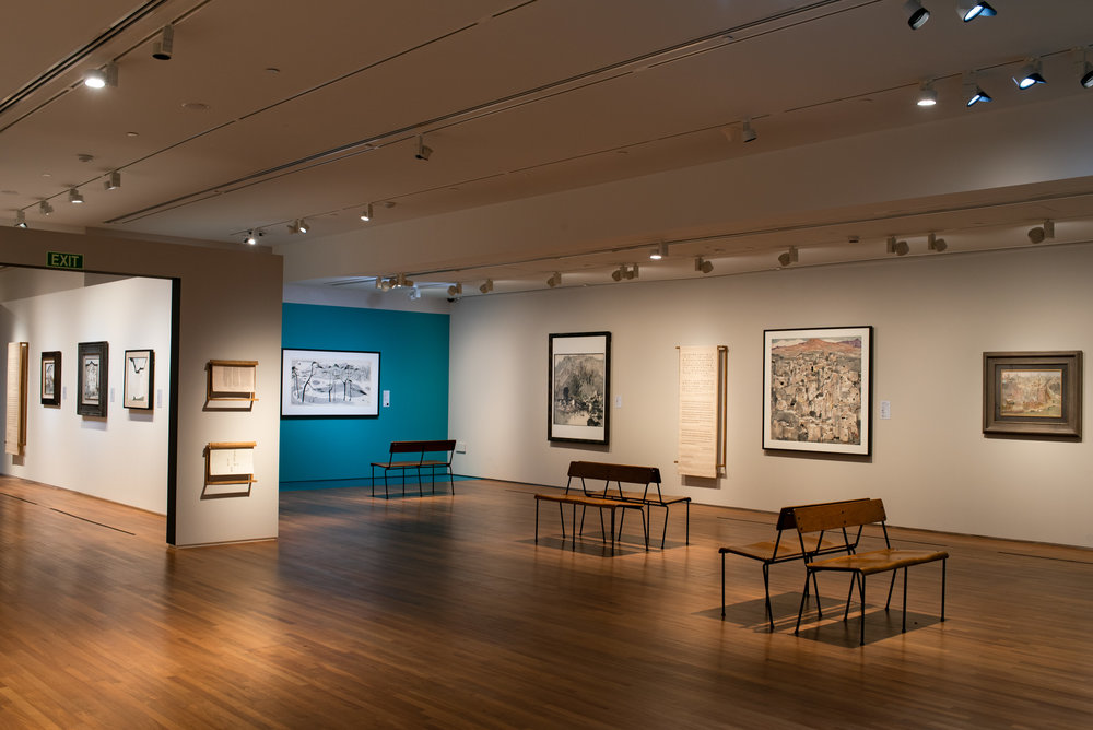 Wu Guanzhong: Expressions of Pen & Palette  Installation View at National Gallery Singapore  Photography by National Gallery Singapore