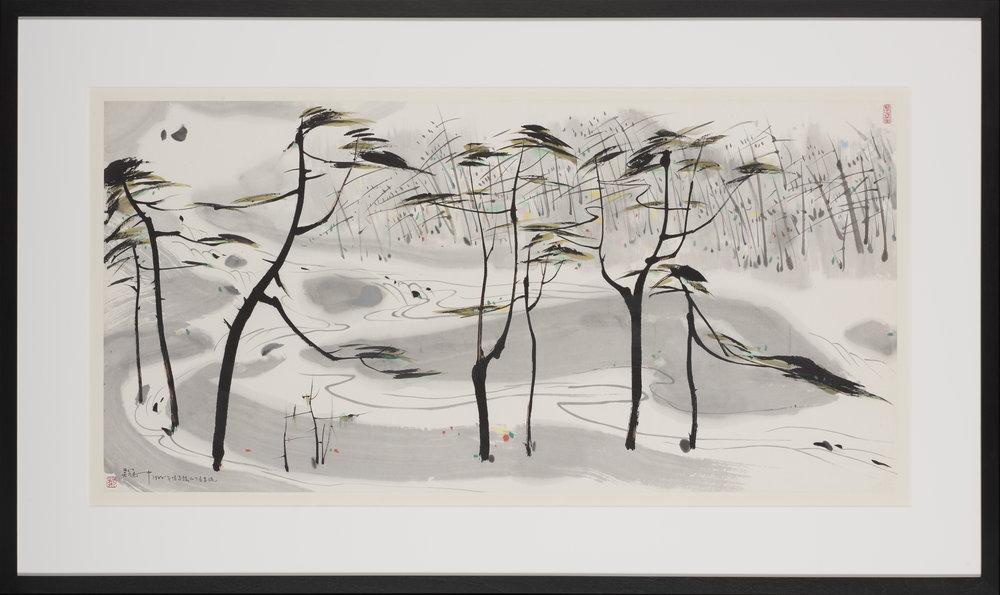 Running Stream , Wu Guanzhong 1988,   National Gallery Singapore  Credit: National Gallery Singapore