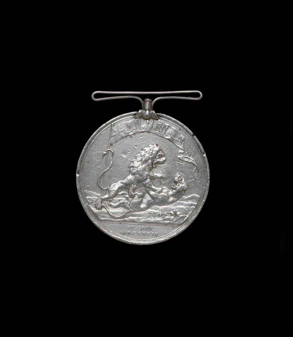 Seringapatam Medal  England, c. 19th century  Credit: Victoria & Albert Museum