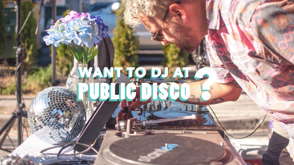 DJ at Public Disco UBC