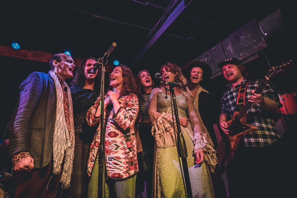 Members from various Austin bands gathered on stage to pay tribute to The Band's concert documentary,  The Last Waltz  on Nov. 23, 2018 at Barracuda Austin.