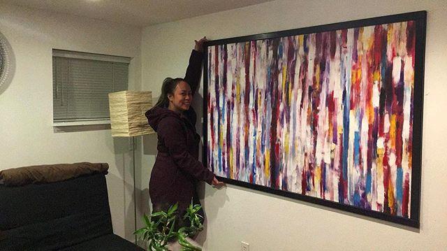 This piece got a new home! 💕 . . . . . . . . #art #artist #instaart #instaartist #artgram #paint #painting #painter #abstract #abstractpainting #abstractpainter #acrylic #acrylicpainting #colour #colourful #colourpainting #fingerpainting #love #passion #creativity #beauty #vancouverartist #vancouverart #vancouver #vancity #yvr #canada