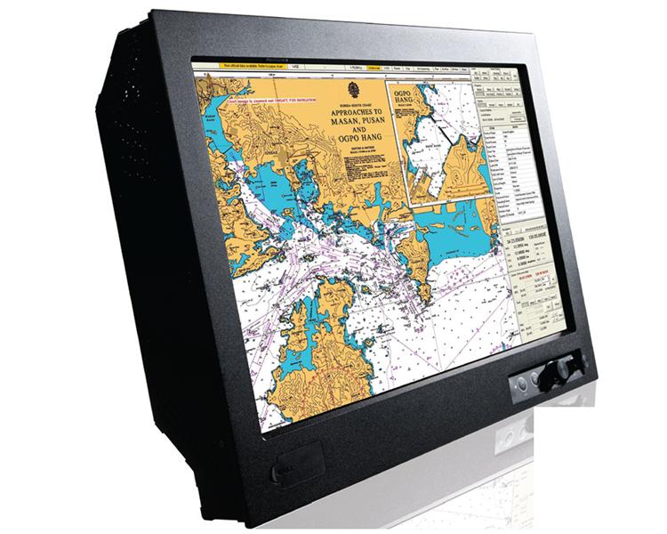 D&T D and T ECDIS Radar Marine Naval Ship Shipping Display Monitor Screen