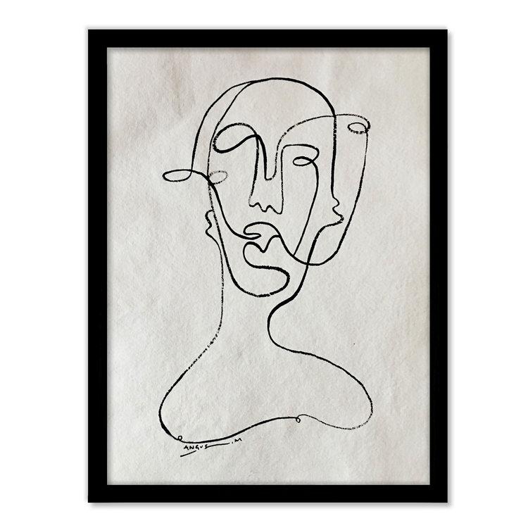 'Faces' Rag Paper - Framed   ANGUS MARTIN