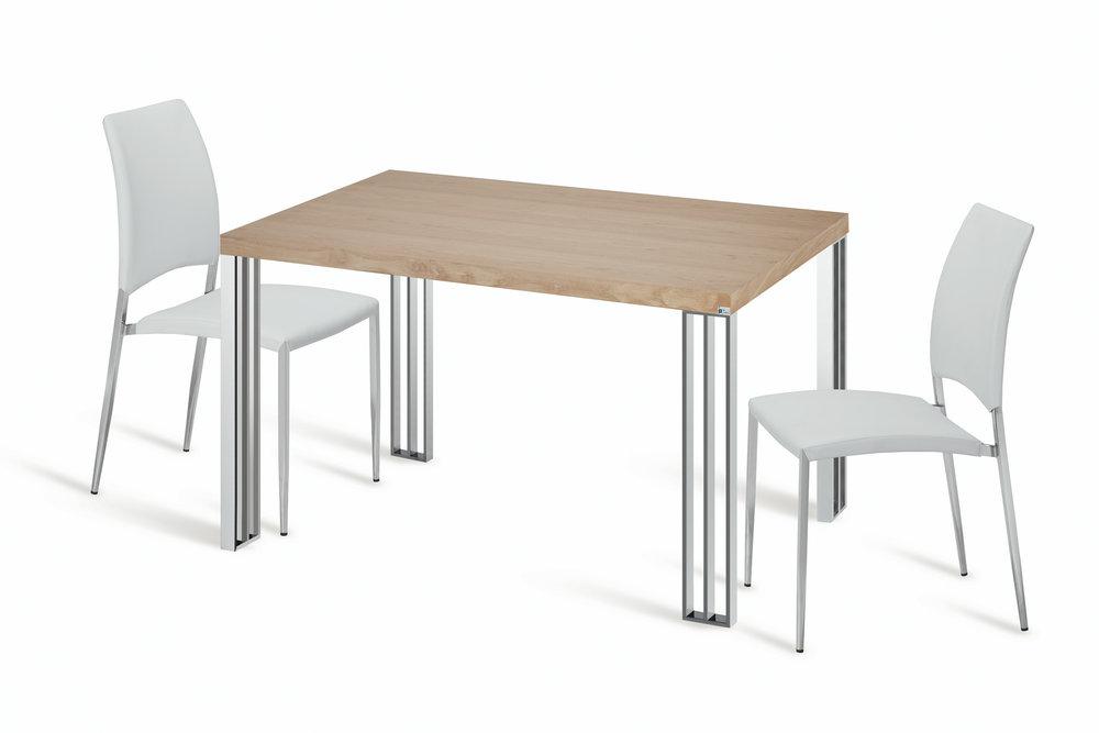 FUSION - Quando a mesa se funde com a cozinha….Os materiais e acabamentos foram escolhidos para esta coleção a partir das cozinhas mais modernas e requintadas. Esta coleção vai permitir elevar a sua cozinha a um outro nível de elegância e conforto.