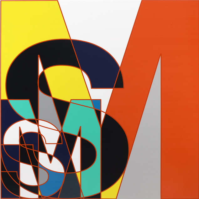 10.-Sarah-Morris-SM-Outlined-Initials-2011-Household-Gloss-Paint-on-Canvas-214-x-214-cm-e1454534388185.jpg