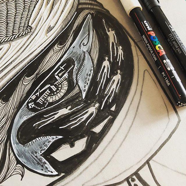 The sea is full of ghosts... . . . #printmaking #printmaker #ukprintmakers #printpower #get_imprinted @artyinc #linocut #linoprint #linoblock #blockprint #reliefprinting #handcarved #handmadeart #illustration_daily #bookillustration #linogravure #linograbado #linoldruck #illustragram #printstagram #mystudiotoday #printstudio #workinprogress #marchmeetthemaker2019 #whale #ghosts #shipwreck