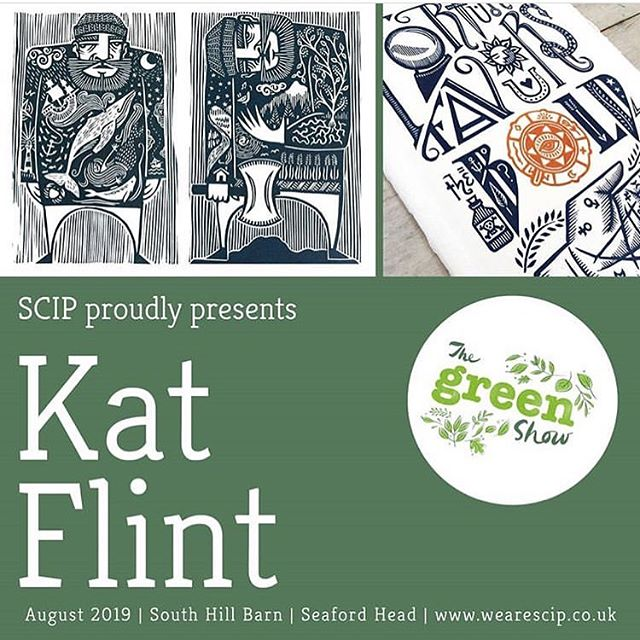 Morning! If you've been curious about my big fishwives linocut, I'm happy to be able to reveal that I'm making it especially for this lovely exhibition taking place in August on the Sussex coast. The organisers @wearescip have their work cut out transforming a giant, historic barn on the edge of a cliff into a shiny new gallery space - hats off to them!! 🎩 . Also, they've been announcing the lineup via their profile and I have to say I'm pretty intimidated (and excited), because so far it's aaaawesome... . Woop woop! 🙌 . . . #printmaking #printmaker #printstagram #printmakersofinstagram #linocut #linoprint #katandkin #flintkat #wearescip #artexhibition #sussex #seaford #thingstodoinaugust
