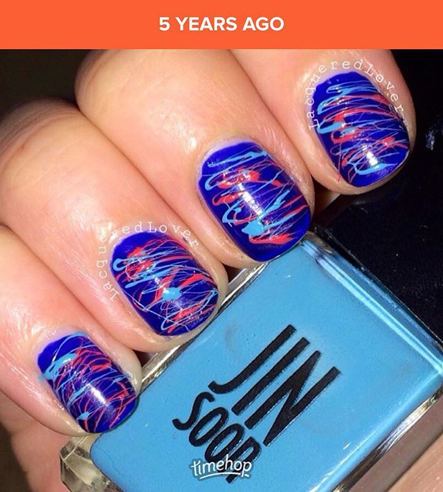 In honor of #nyfw , a #tbt to my #lacqueredlover days of blogging about nail polish and covering the shows @jinsoon #nailart #nails #beauty #throwbackthursday #photooftheday #bestoftheday