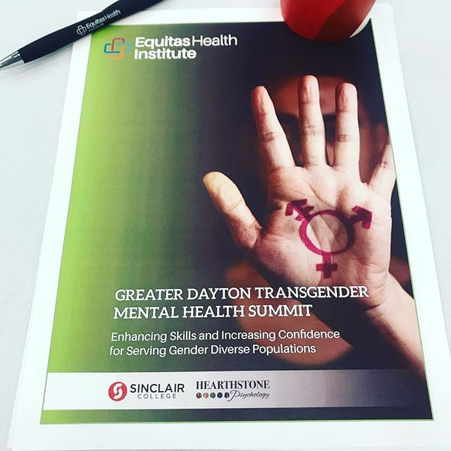 Excited to spend our Friday at the Greater Dayton Transgender Mental Health Summit! Thankful for @equitas.health 🙌🏻 . . . #mentalhealthawareness #lgbt #lgbtqia #pronouns #equality #wellness #cincinnati