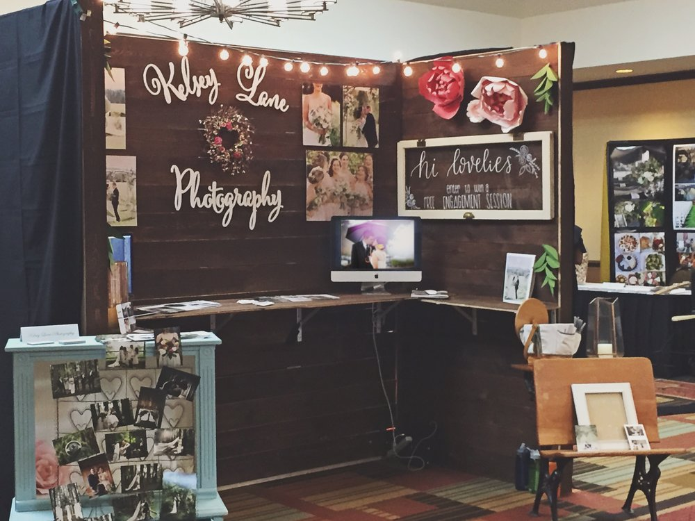 This year we put up two booths for our wedding photography (now planning and videography) business. This year we transitioned to Honeybee Weddings!