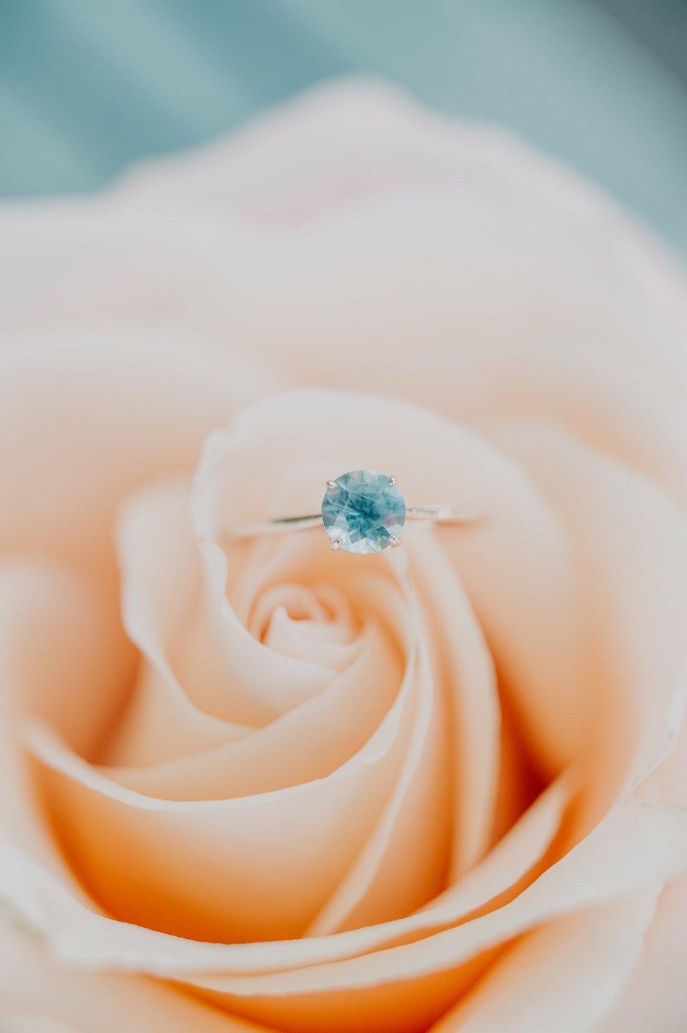 My Montana sapphire engagement ring! GAH!!