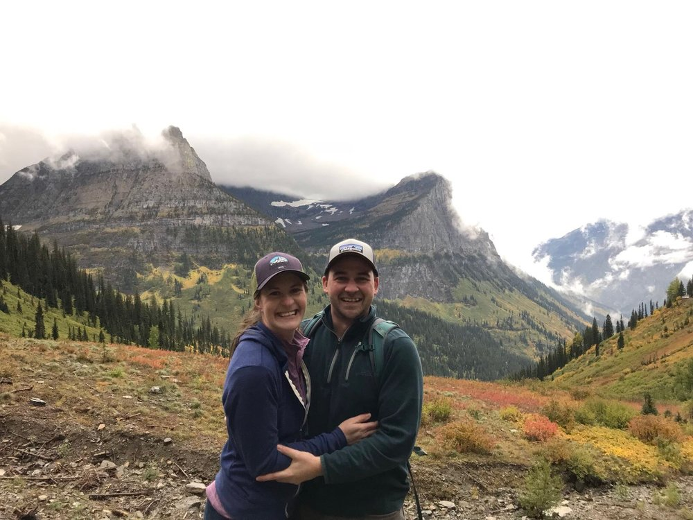 We got to romp around Glacier National Park to scout out our ceremony spot for our WEDDING next year! The colors were amazing!