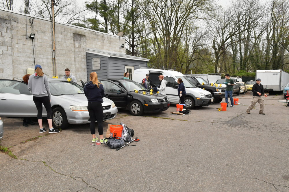 TU Crime Students Mock Crime Scene International Auto Repair Baltimore MD 21207 21244 6.JPG