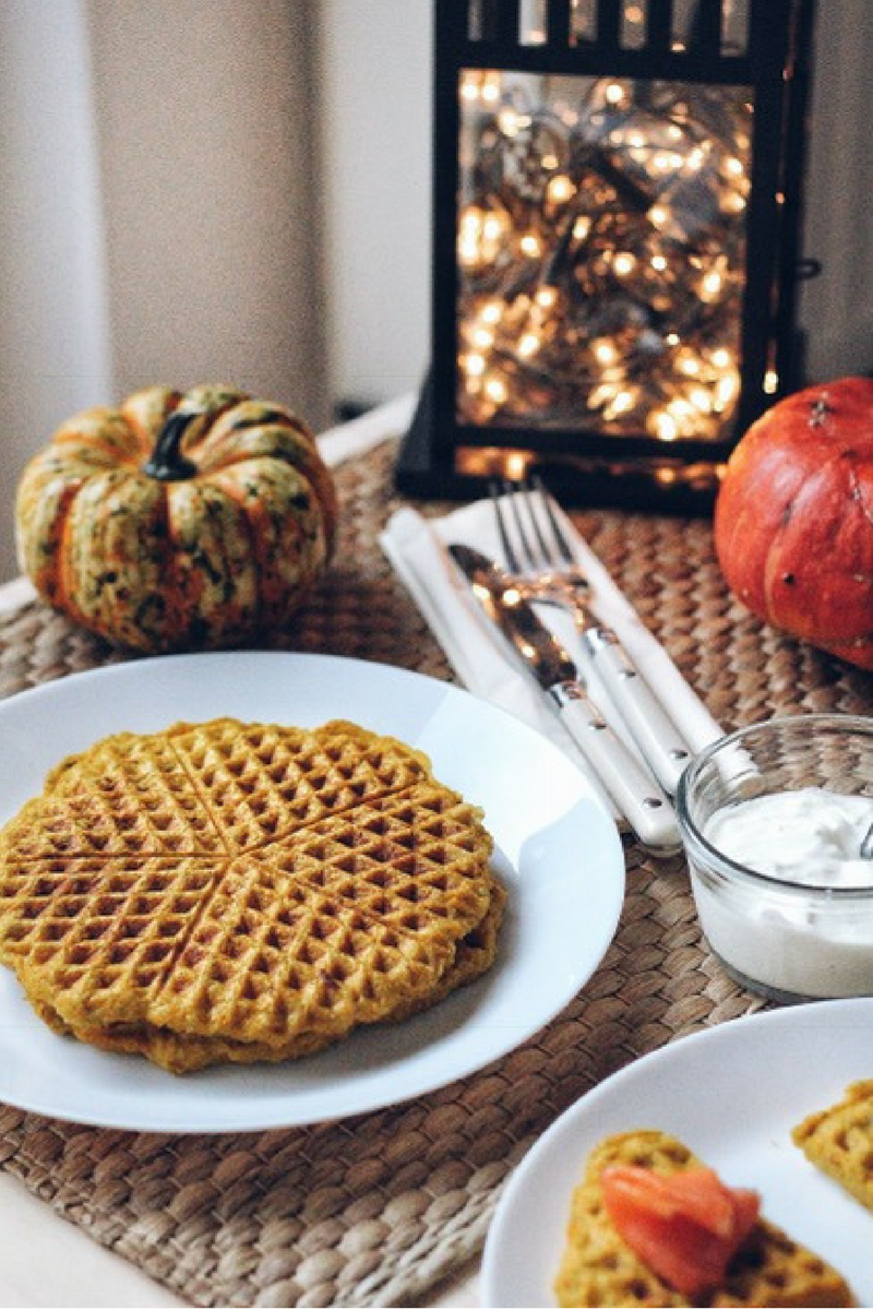 Grain Free Pumpkin Waffles - Recipe - Grain-free, Gluten-free and Sugar-free - Low Carb, Paleo and Keto - Fit Chick Bakery