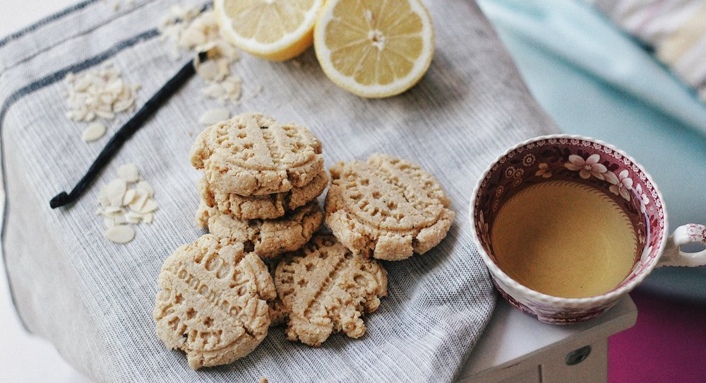Grain-free Almond Cookies - with Lemon and Vanilla - Recipe - Grain-free, Gluten-free and Sugar-free - Low Carb, Paleo and Keto - Fit Chick Bakery