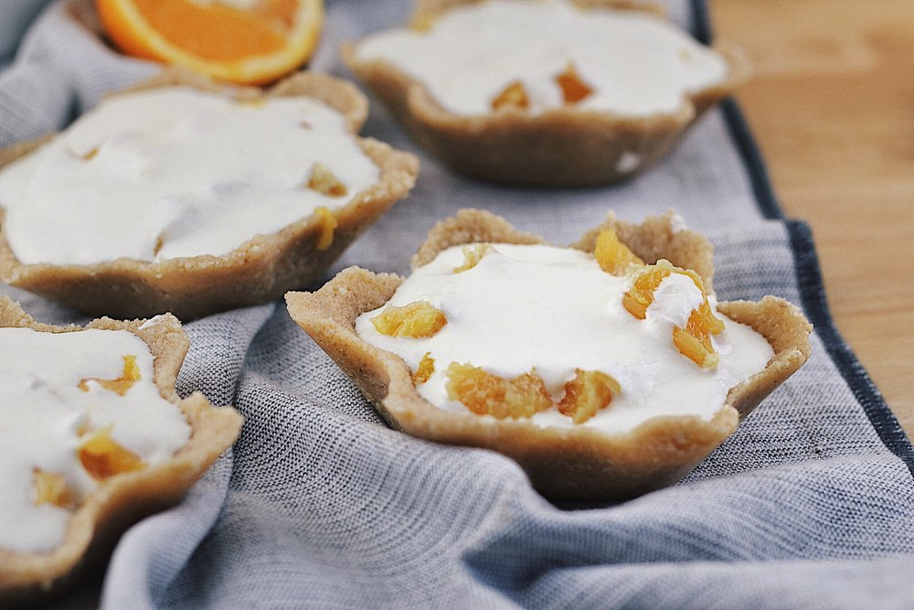 Low Carb Orange & Cream Mini Tarts