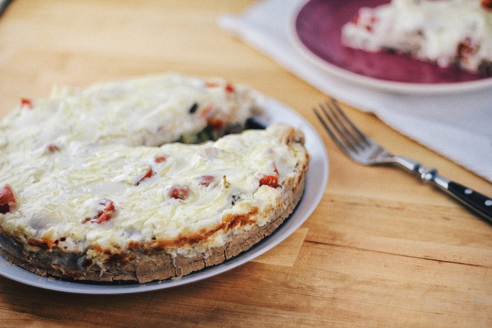 Paleo Quiche with Goat Cheese