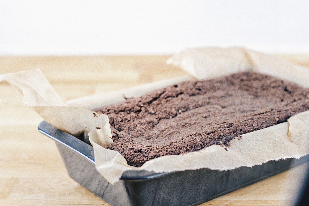 Wet Dark Chocolate Cake - Recipe - Grain-free, Gluten-free and Sugar-free - Low Carb, Paleo and Keto - Fit Chick Bakery