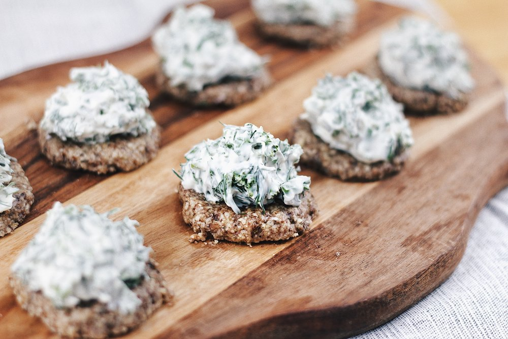 Cream Cheese Paleo Appetizer - with Dill and Parsley