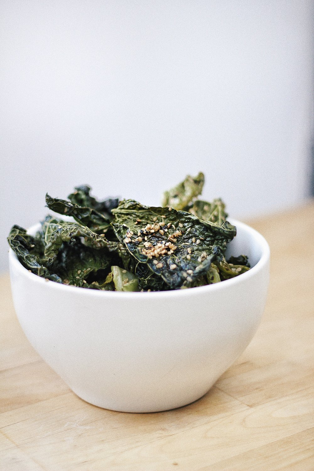 Savoy Cabbage Chips with Sesame