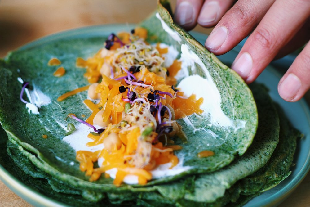 Grain-free Paleo Spinach Pancakes - Recipe - Grain-free, Gluten-free and Sugar-free - Low Carb, Paleo and Keto - Fit Chick Bakery