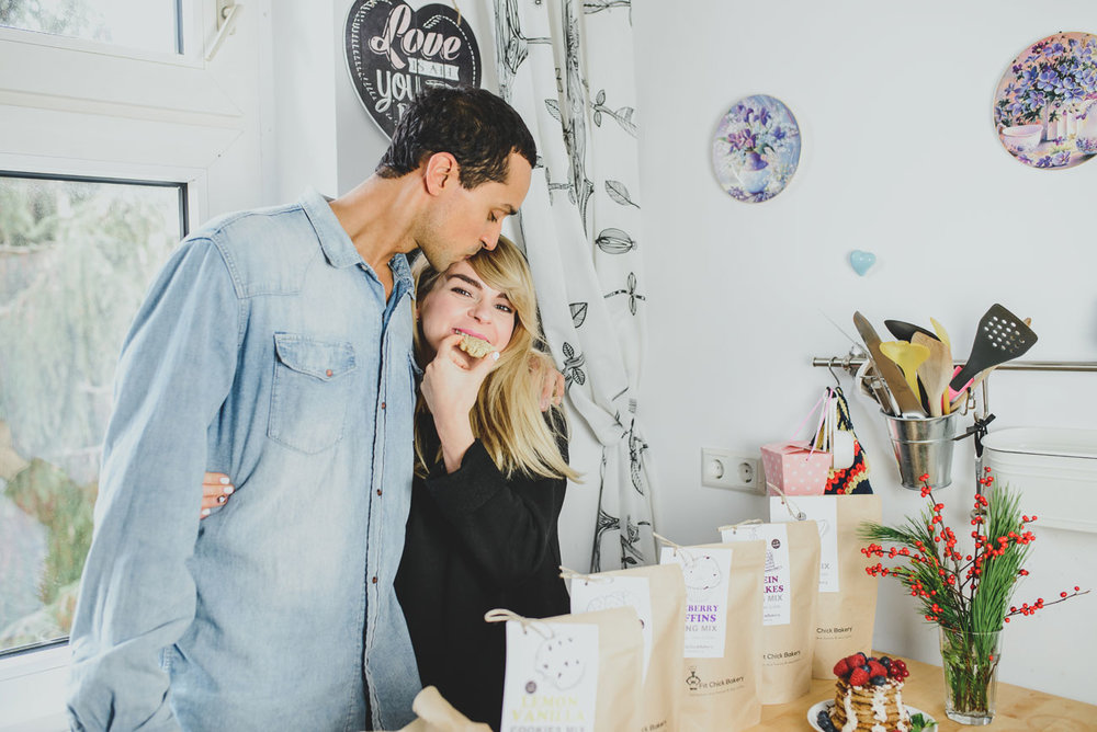 Michael & Marina Negele, founders of Fit Chick Bakery