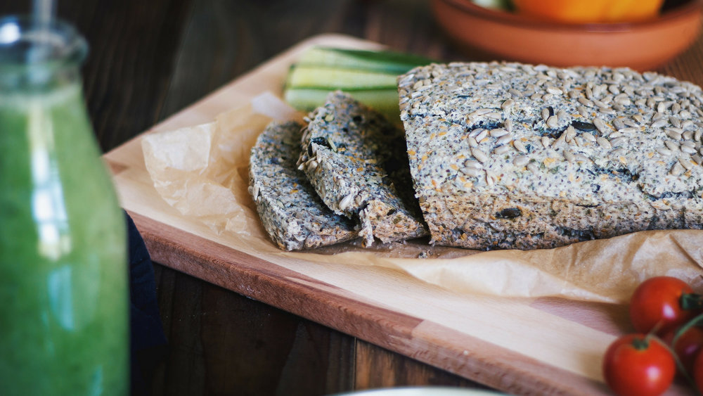 Grain-free Vegan Chia Seeds Bread - Recipe - Grain-free, Gluten-free and Sugar-free - Low Carb, Paleo and Keto - Fit Chick Bakery