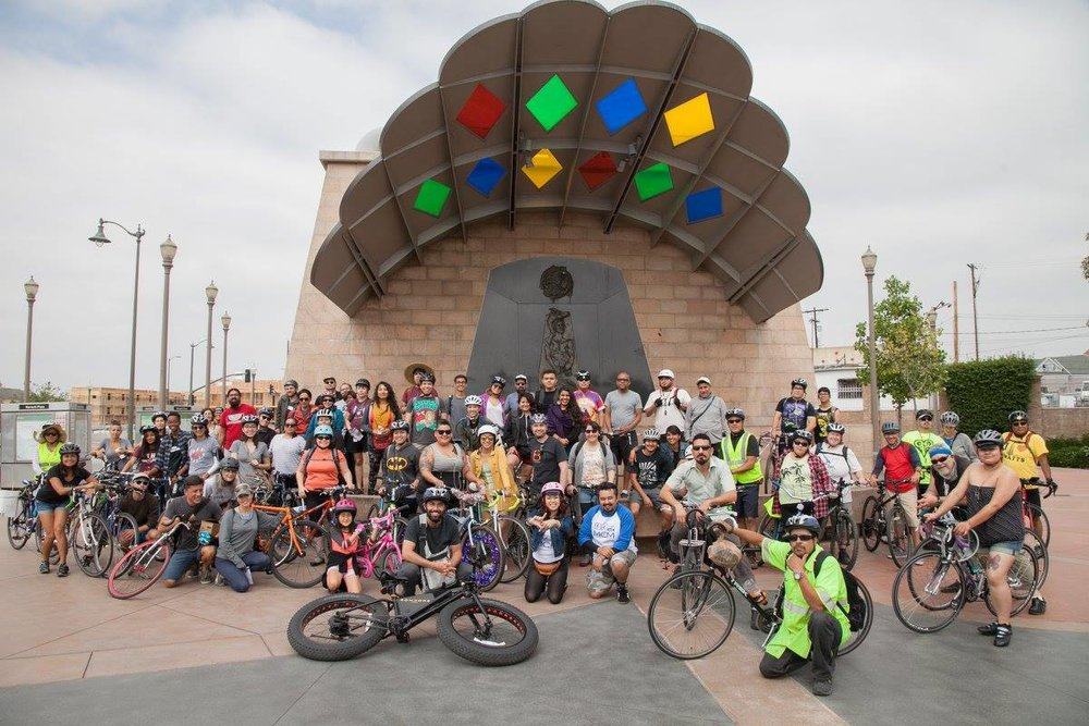 2016's ride gets ready to head out from Mariachi Plaza.