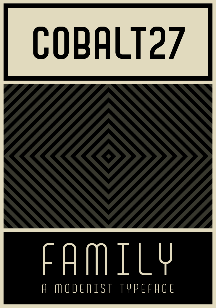 COBALT 27 FONT - A TYPEFACE IN FOUR VERSIONS
